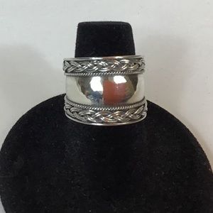 🌷STERLING SILVER (925) BALI ROPE DESIGN RING